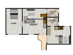 Квартира площадью 71 кв. м. , состоящая из 2-х квартир