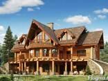 Деревянные дома из оцилиндрованного бревна, дикий сруб. - фото 1