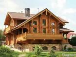 Деревянные дома из оцилиндрованного бревна, дикий сруб. - фото 3