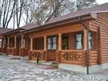 Деревянные дома из оцилиндрованного бревна, дикий сруб. - фото 5