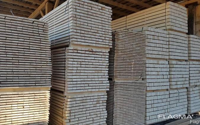 Sawn timber of pine.