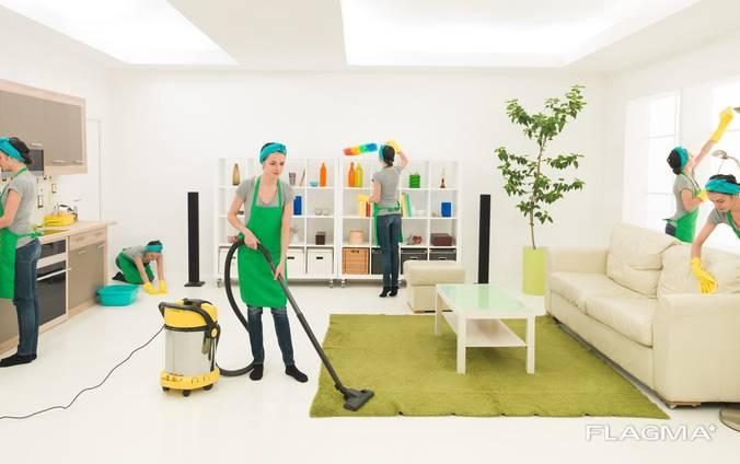Уборка квартир, офисов, торговых центров, отелей, учреждений